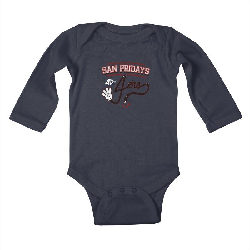 San Fridays Kids Baby Longsleeve Bodysuit by jublin's Artist Shop