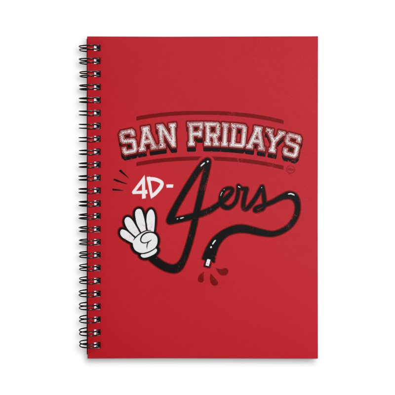 San Fridays Accessories Lined Spiral Notebook by jublin's Artist Shop