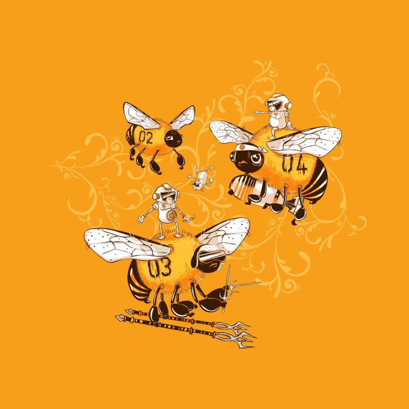 Killer Bee Killed Men's T-Shirt by jublin's Artist Shop