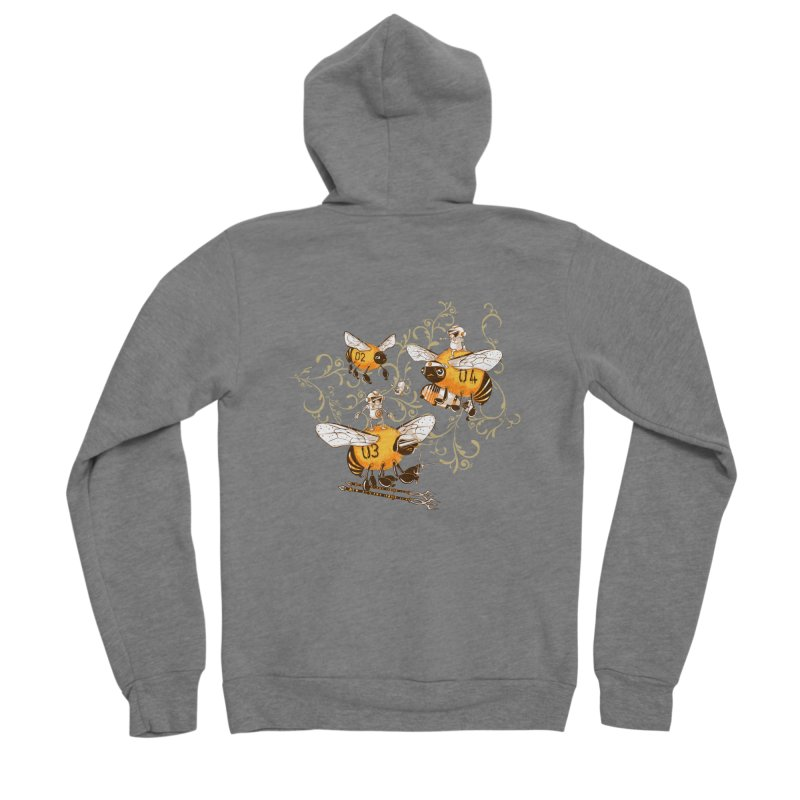 Killer Bee Killed Men's Sponge Fleece Zip-Up Hoody by jublin's Artist Shop