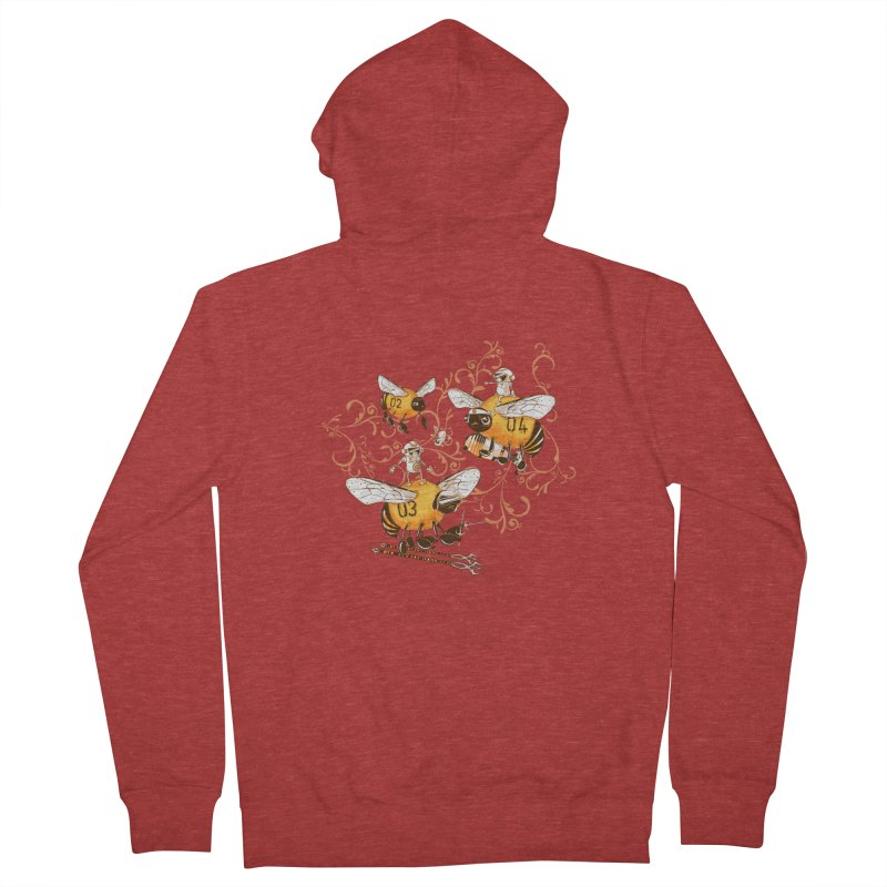 Killer Bee Killed Women's French Terry Zip-Up Hoody by jublin's Artist Shop