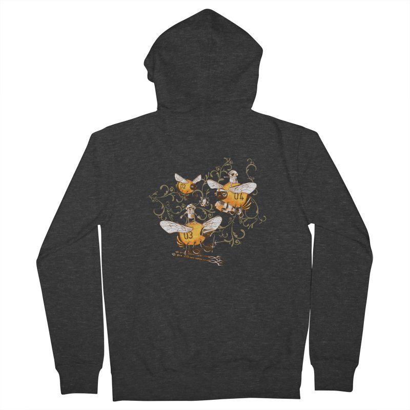 Killer Bee Killed Men's French Terry Zip-Up Hoody by jublin's Artist Shop