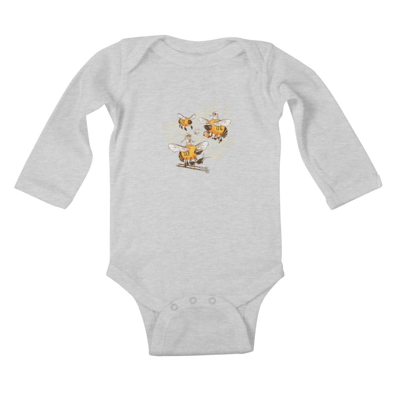 Killer Bee Killed Kids Baby Longsleeve Bodysuit by jublin's Artist Shop