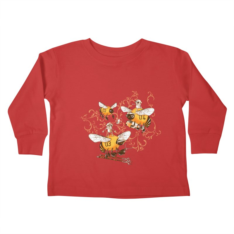 Killer Bee Killed Kids Toddler Longsleeve T-Shirt by jublin's Artist Shop