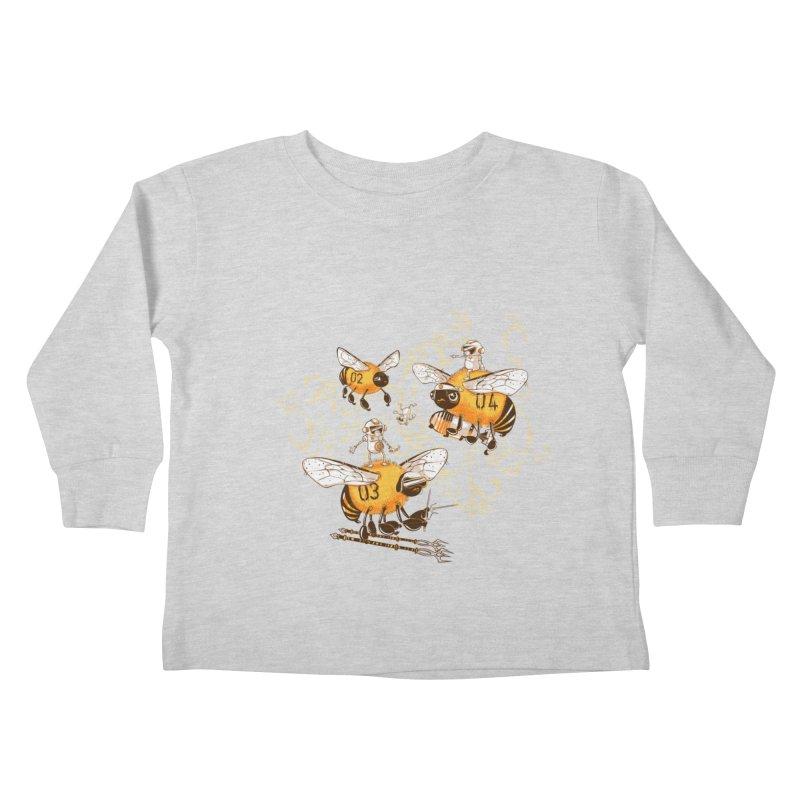 Killer Bee Killed Kids Toddler Longsleeve T-Shirt by jublin's Artist Shop