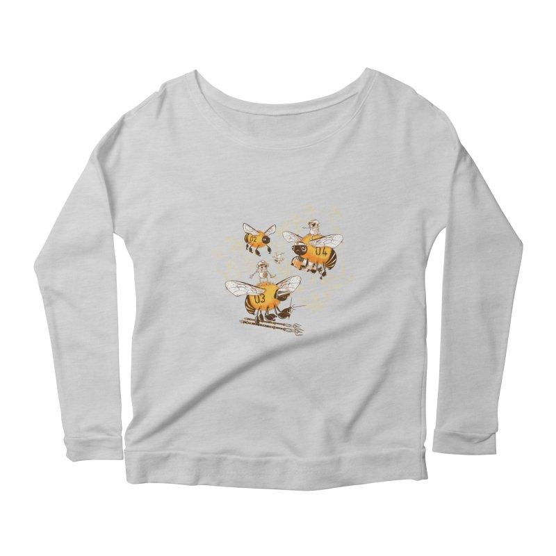 Killer Bee Killed Women's Scoop Neck Longsleeve T-Shirt by jublin's Artist Shop
