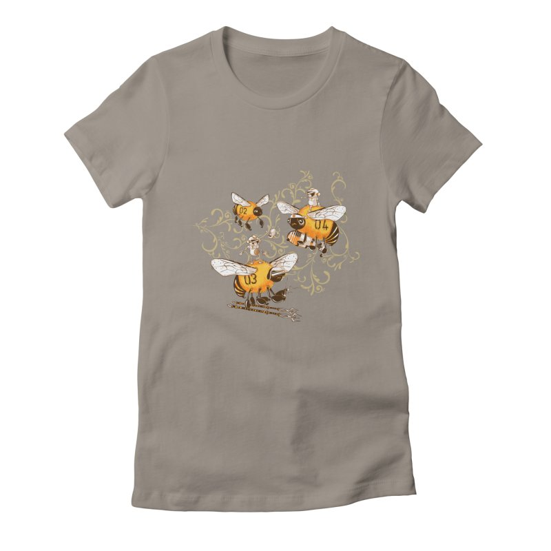 Killer Bee Killed Women's Fitted T-Shirt by jublin's Artist Shop