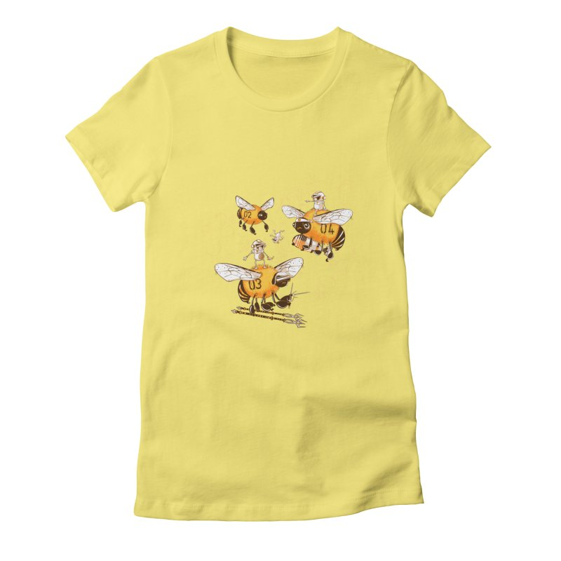 Killer Bee Killed Women's Fitted T-Shirt by jublin's Artist Shop