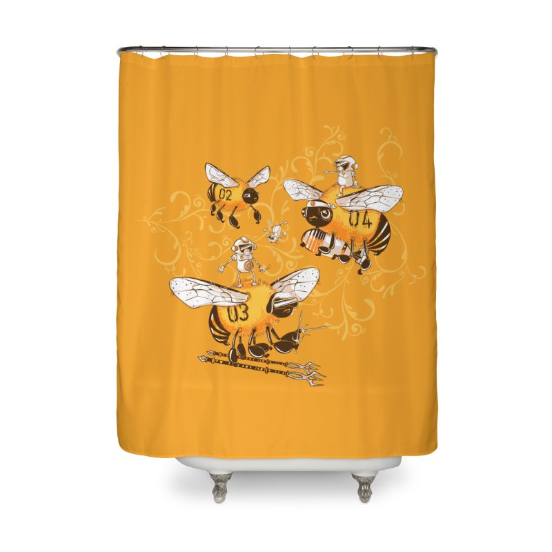 Killer Bee Killed Home Shower Curtain by jublin's Artist Shop