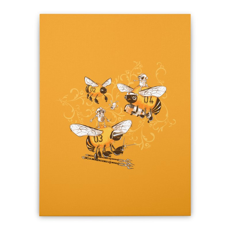 Killer Bee Killed Home Stretched Canvas by jublin's Artist Shop