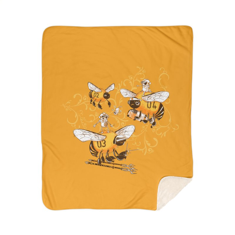 Killer Bee Killed Home Sherpa Blanket Blanket by jublin's Artist Shop