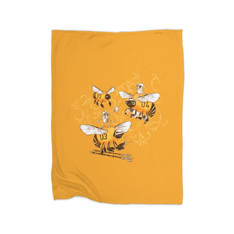 Killer Bee Killed Home Fleece Blanket Blanket by jublin's Artist Shop
