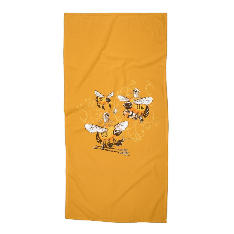 Killer Bee Killed Accessories Beach Towel by jublin's Artist Shop