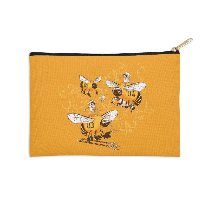 Killer Bee Killed Accessories Zip Pouch by jublin's Artist Shop