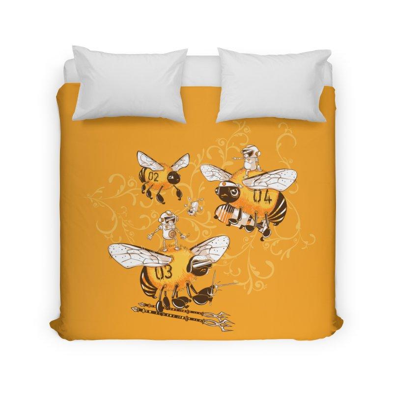 Killer Bee Killed Home Duvet by jublin's Artist Shop