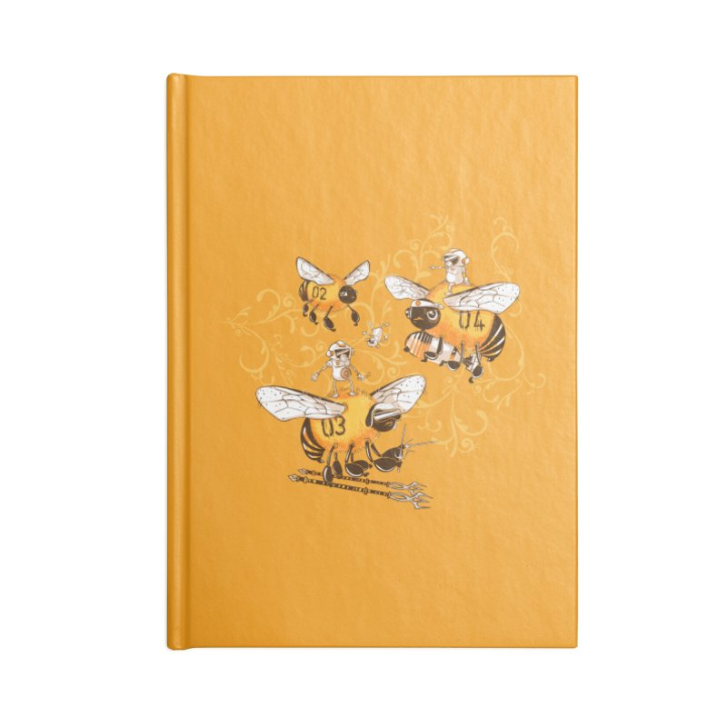 Killer Bee Killed Accessories Lined Journal Notebook by jublin's Artist Shop