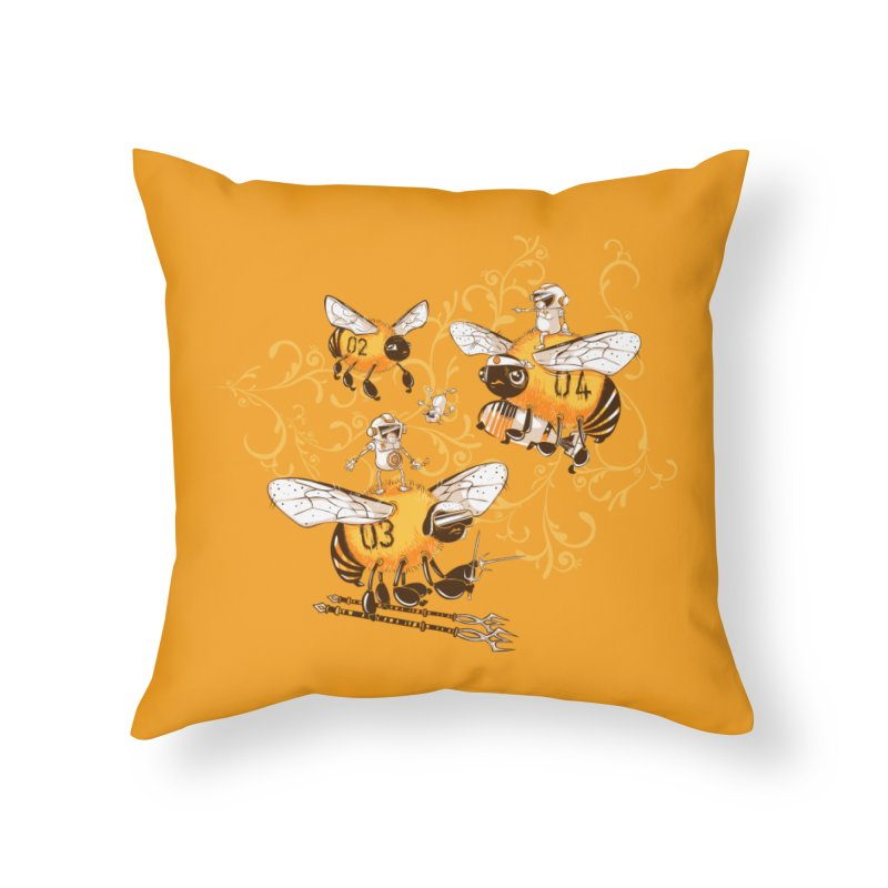 Killer Bee Killed Home Throw Pillow by jublin's Artist Shop