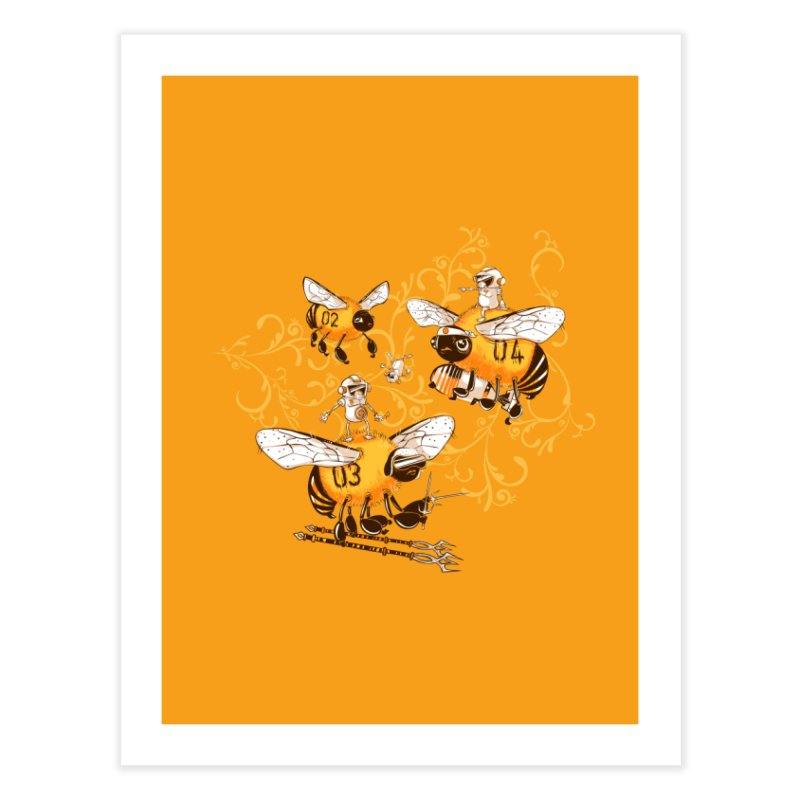 Killer Bee Killed Home Fine Art Print by jublin's Artist Shop