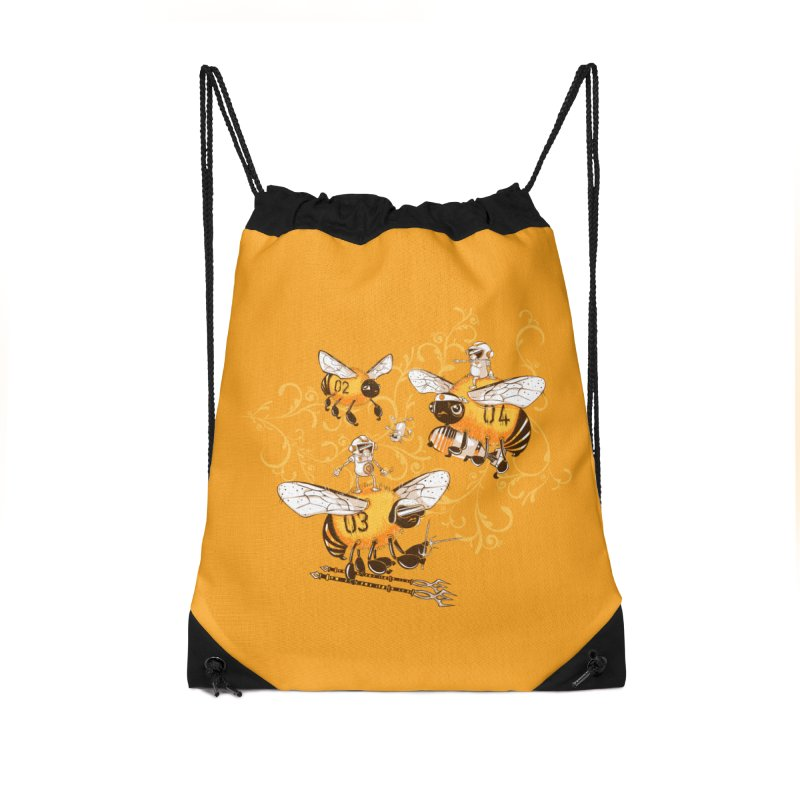 Killer Bee Killed Accessories Drawstring Bag Bag by jublin's Artist Shop
