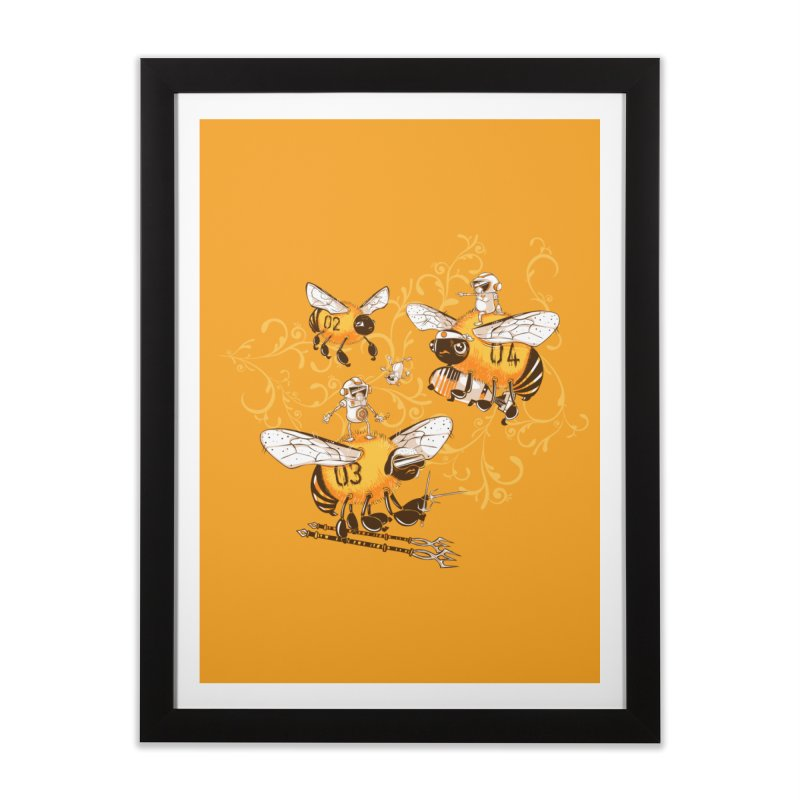 Killer Bee Killed Home Framed Fine Art Print by jublin's Artist Shop