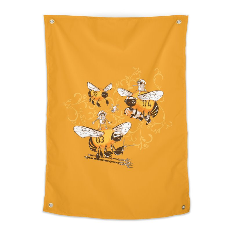 Killer Bee Killed Home Tapestry by jublin's Artist Shop