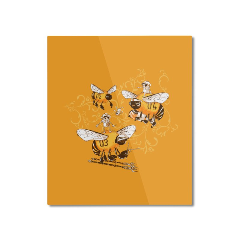 Killer Bee Killed Home Mounted Aluminum Print by jublin's Artist Shop
