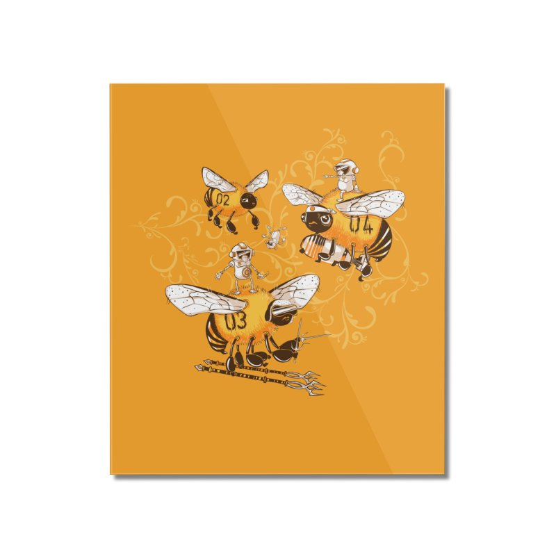 Killer Bee Killed Home Mounted Acrylic Print by jublin's Artist Shop