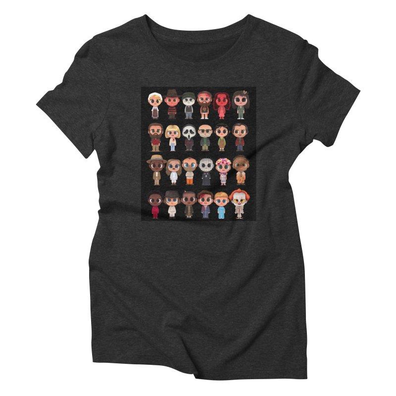 Creepy Cuties Women's Triblend T-Shirt by jublin's Artist Shop