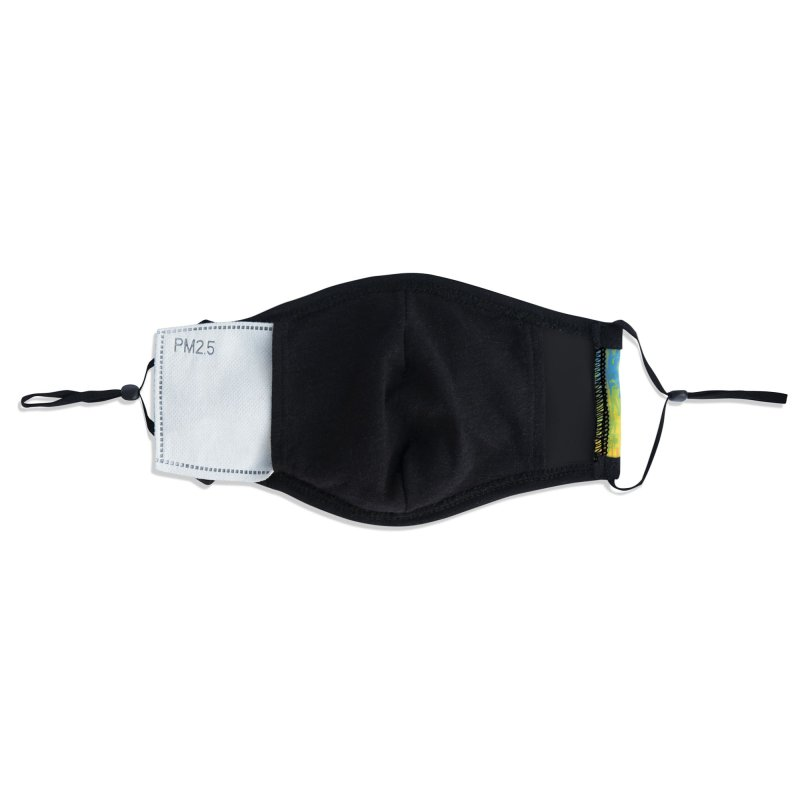 Rainbow Meltdown Accessories Face Mask by jublin's Artist Shop