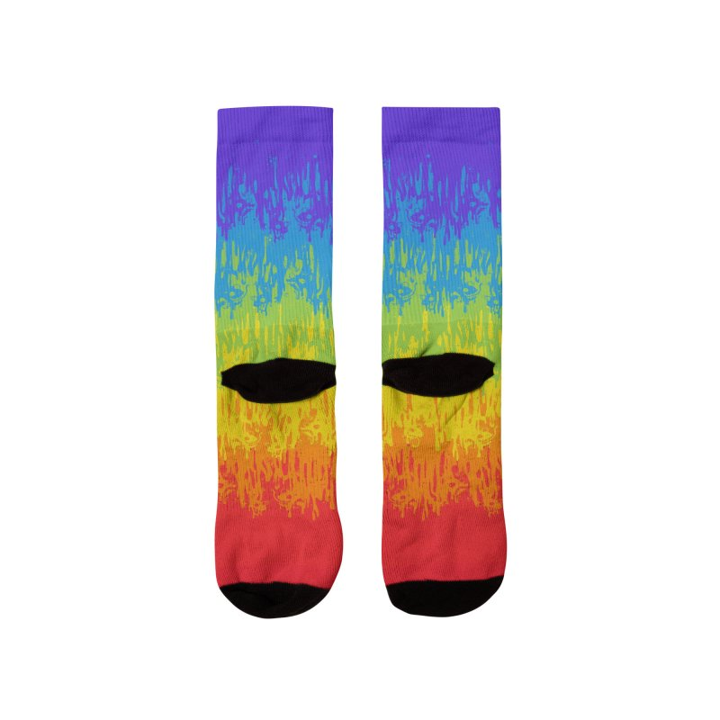 Rainbow Meltdown Men's Socks by jublin's Artist Shop