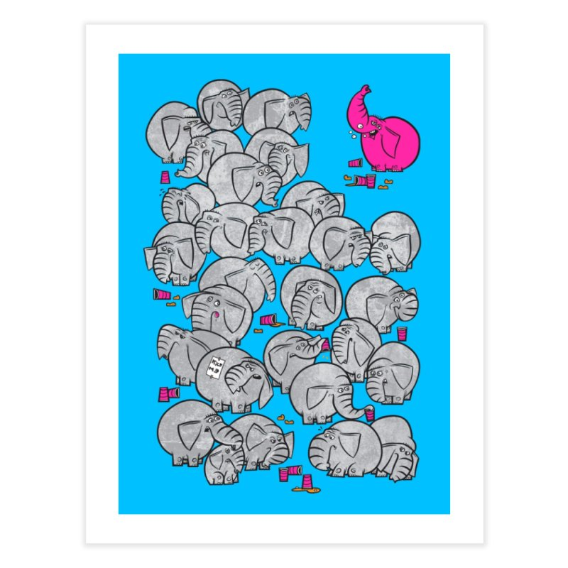 Pink Elephant Home Fine Art Print by jublin's Artist Shop
