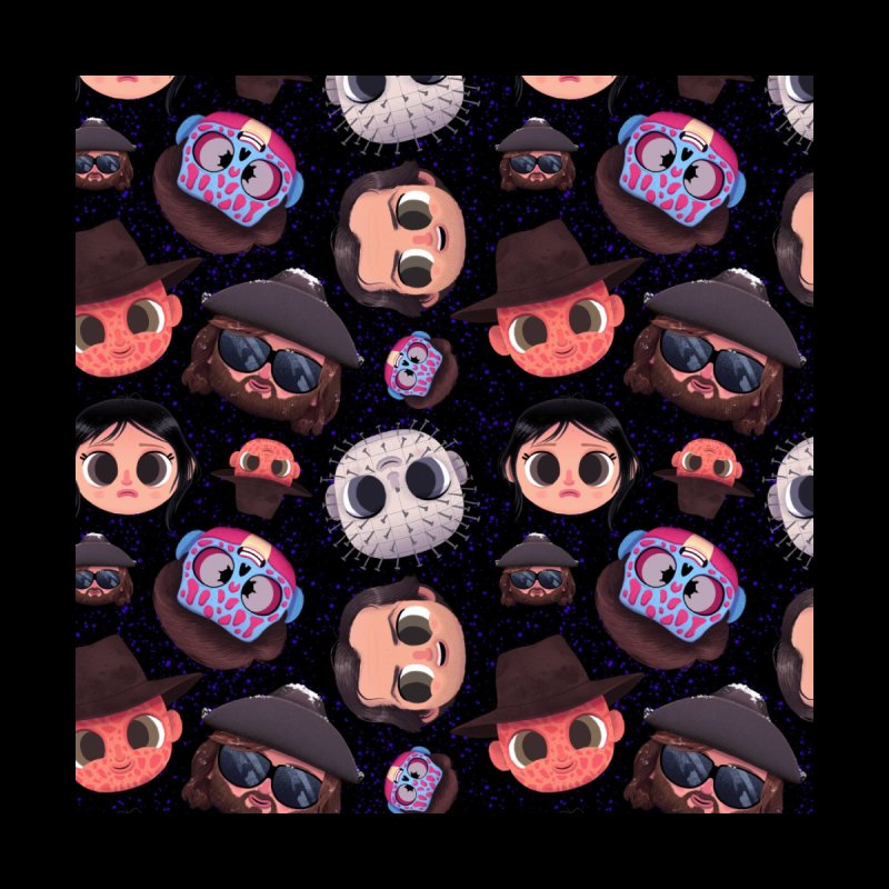 Creepy Cuties Pattern - The 80's Accessories Face Mask by jublin's Artist Shop