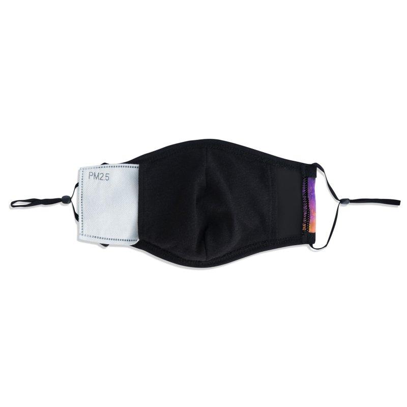 Neon Meltdown Accessories Face Mask by jublin's Artist Shop