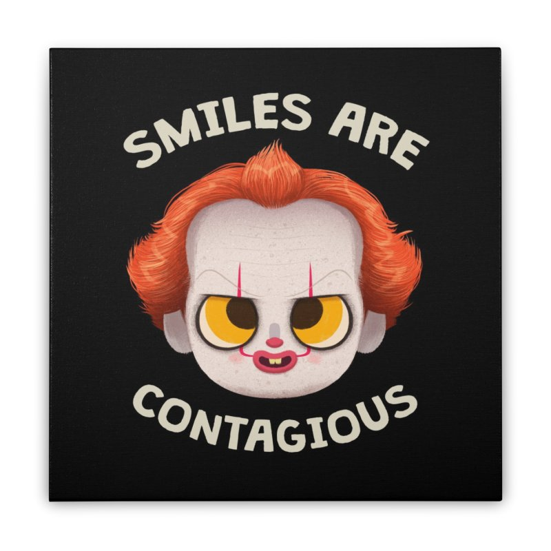 Creepy Cuties - Smiles are Contagious Home Stretched Canvas by jublin's Artist Shop