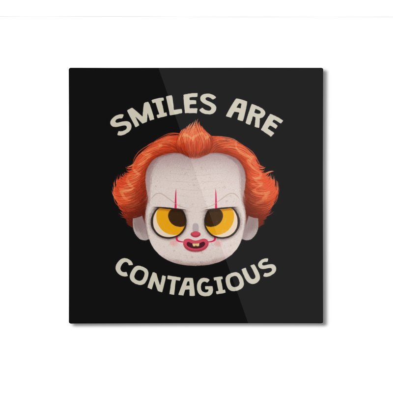 Creepy Cuties - Smiles are Contagious Home Mounted Aluminum Print by jublin's Artist Shop