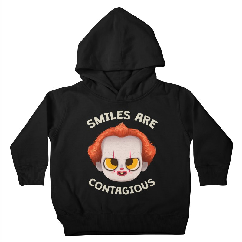 Creepy Cuties - Smiles are Contagious Kids Toddler Pullover Hoody by jublin's Artist Shop