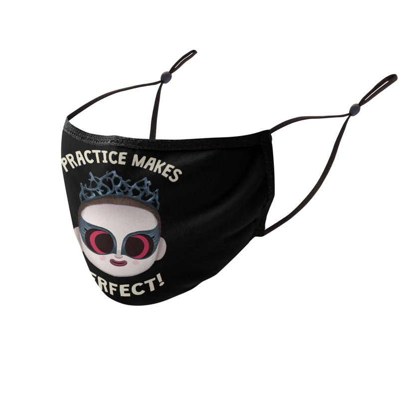 Creepy Cuties - Practice Makes Perfect Accessories Face Mask by jublin's Artist Shop