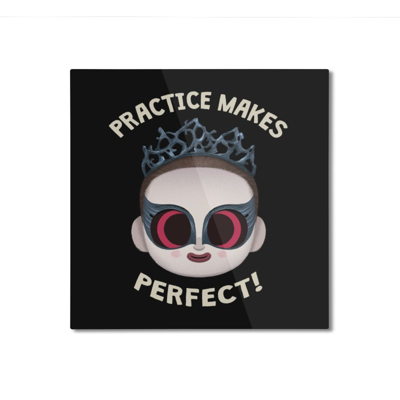 Creepy Cuties - Practice Makes Perfect Home Mounted Aluminum Print by jublin's Artist Shop