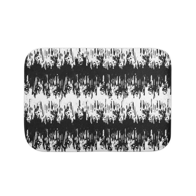 Zebra Meltdown Home Bath Mat by jublin's Artist Shop