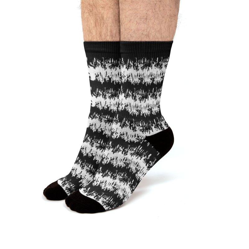 Zebra Meltdown Men's Socks by jublin's Artist Shop