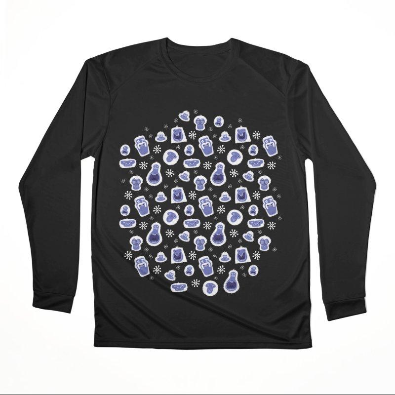 Yeti Set Go Women's Longsleeve T-Shirt by jublin's Artist Shop
