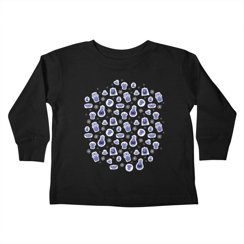 Yeti Set Go Kids Toddler Longsleeve T-Shirt by jublin's Artist Shop