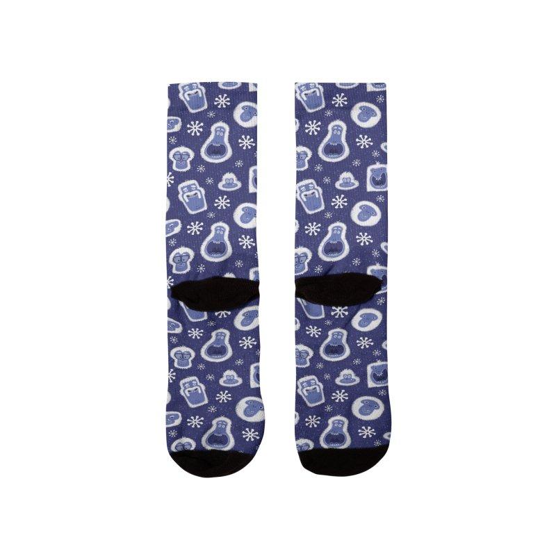 Yeti Set Go Men's Socks by jublin's Artist Shop