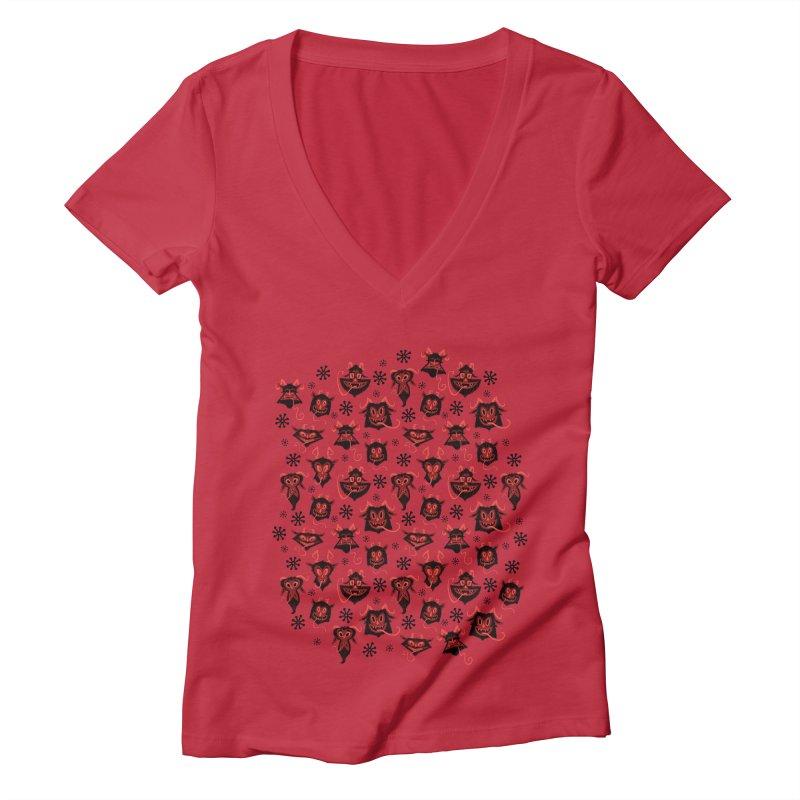 Merry Krampus Women's V-Neck by jublin's Artist Shop