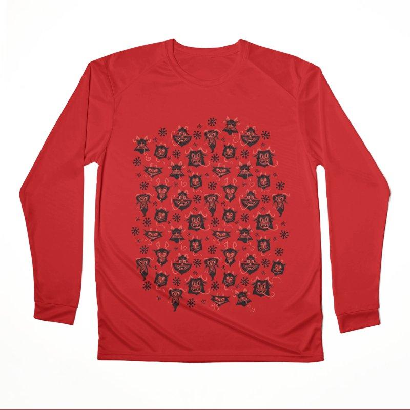Merry Krampus Women's Longsleeve T-Shirt by jublin's Artist Shop