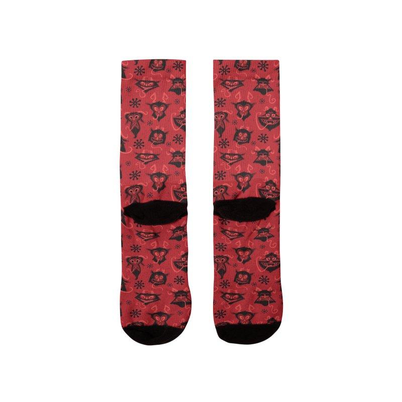 Merry Krampus Men's Socks by jublin's Artist Shop