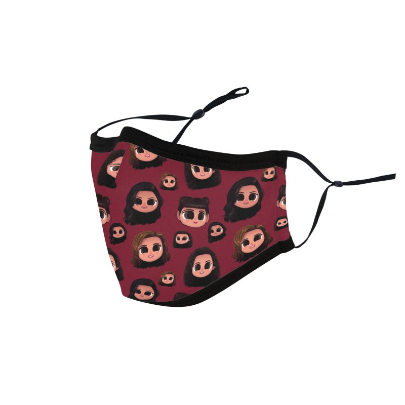 Raquel Family Maroon Accessories Face Mask by jublin's Artist Shop