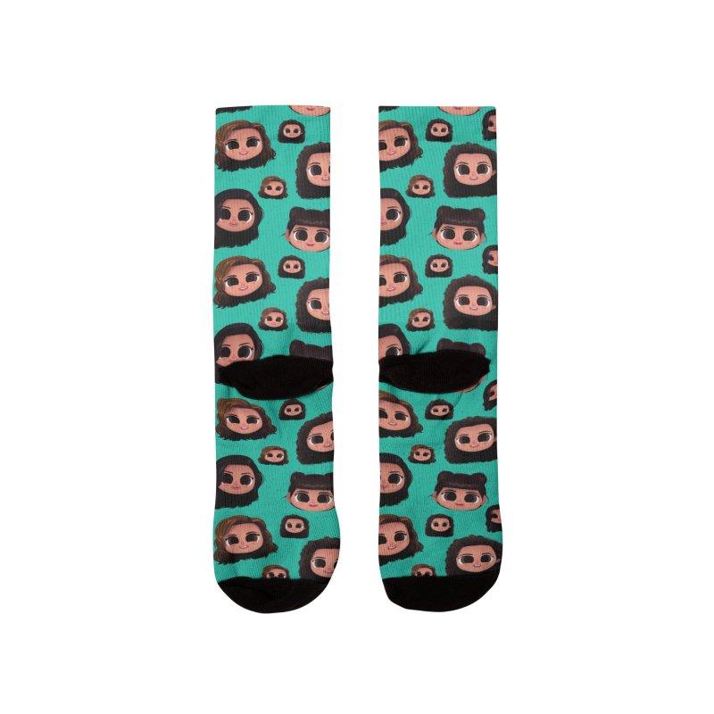 Raquel Family Teal Women's Socks by jublin's Artist Shop