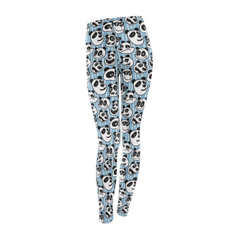 Panda Pattern Blue Women's Bottoms by jublin's Artist Shop