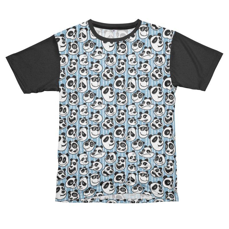 Panda Pattern Blue Men's Cut & Sew by jublin's Artist Shop